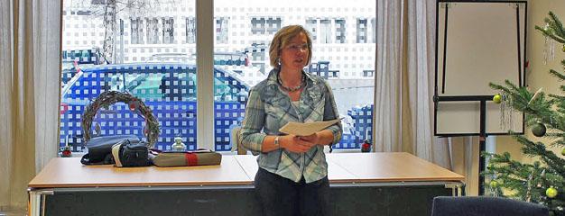 Begrüßung beim Projekt der Frauenhilfe durch Iris Jänicke